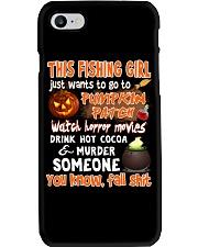 FISHING GIRL PUMPKIN PATCH HALLOWEEN COSTUME Phone Case thumbnail