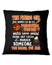 FISHING GIRL PUMPKIN PATCH HALLOWEEN COSTUME Square Pillowcase thumbnail