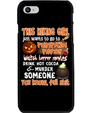 HIKING GIRL PUMPKIN PATCH HALLOWEEN COSTUME Phone Case thumbnail
