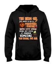 HIKING GIRL PUMPKIN PATCH HALLOWEEN COSTUME Hooded Sweatshirt thumbnail
