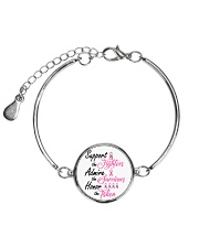 Breast Cancer Awareness Metallic Circle Bracelet tile