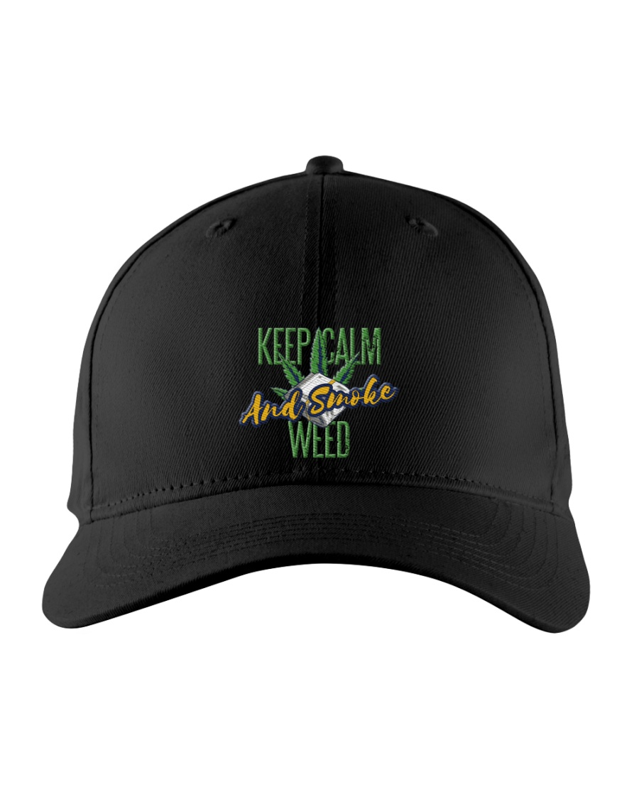 Keep Calm Smoke Weed  Embroidered Hat
