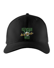 Keep Calm Smoke Weed  Embroidered Hat front