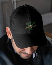 Keep Calm Smoke Weed  Embroidered Hat garment-embroidery-hat-lifestyle-02