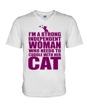 I'm A Strong Independent Woman  V-Neck T-Shirt thumbnail