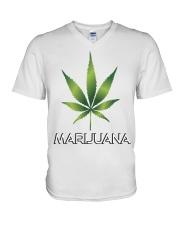 Marijuana  V-Neck T-Shirt thumbnail