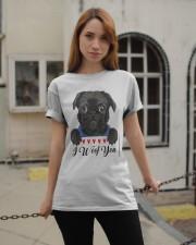 Pug I Woof You   Classic T-Shirt apparel-classic-tshirt-lifestyle-19
