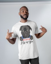 Pug I Woof You   Classic T-Shirt apparel-classic-tshirt-lifestyle-front-32