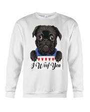 Pug I Woof You   Crewneck Sweatshirt thumbnail