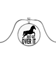 Just Get Over It  Metallic Circle Necklace thumbnail