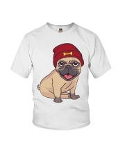Beanie Pug  Youth T-Shirt thumbnail