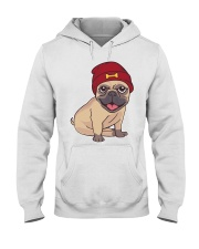 Beanie Pug  Hooded Sweatshirt thumbnail
