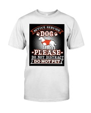 Active Service Dog  Classic T-Shirt front