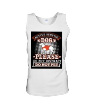 Active Service Dog  Unisex Tank tile