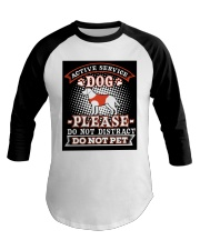 Active Service Dog  Baseball Tee thumbnail