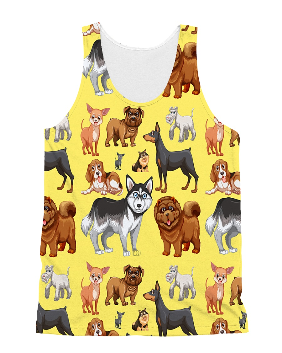 Dogs All Over All-over Unisex Tank