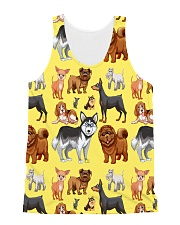 Dogs All Over All-over Unisex Tank front