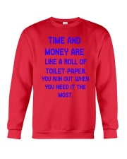Time And Money Crewneck Sweatshirt front