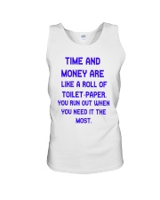 Time And Money Unisex Tank thumbnail