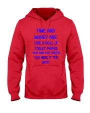 Time And Money Hooded Sweatshirt front