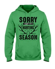 Sorry I can't  Hooded Sweatshirt front