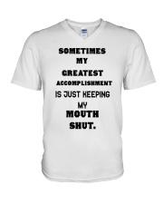 Sometimes my greatest V-Neck T-Shirt front