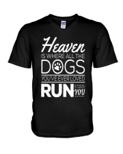 Dogs In Heaven  V-Neck T-Shirt thumbnail