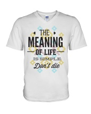 The Meaning Of Life 1 V-Neck T-Shirt thumbnail