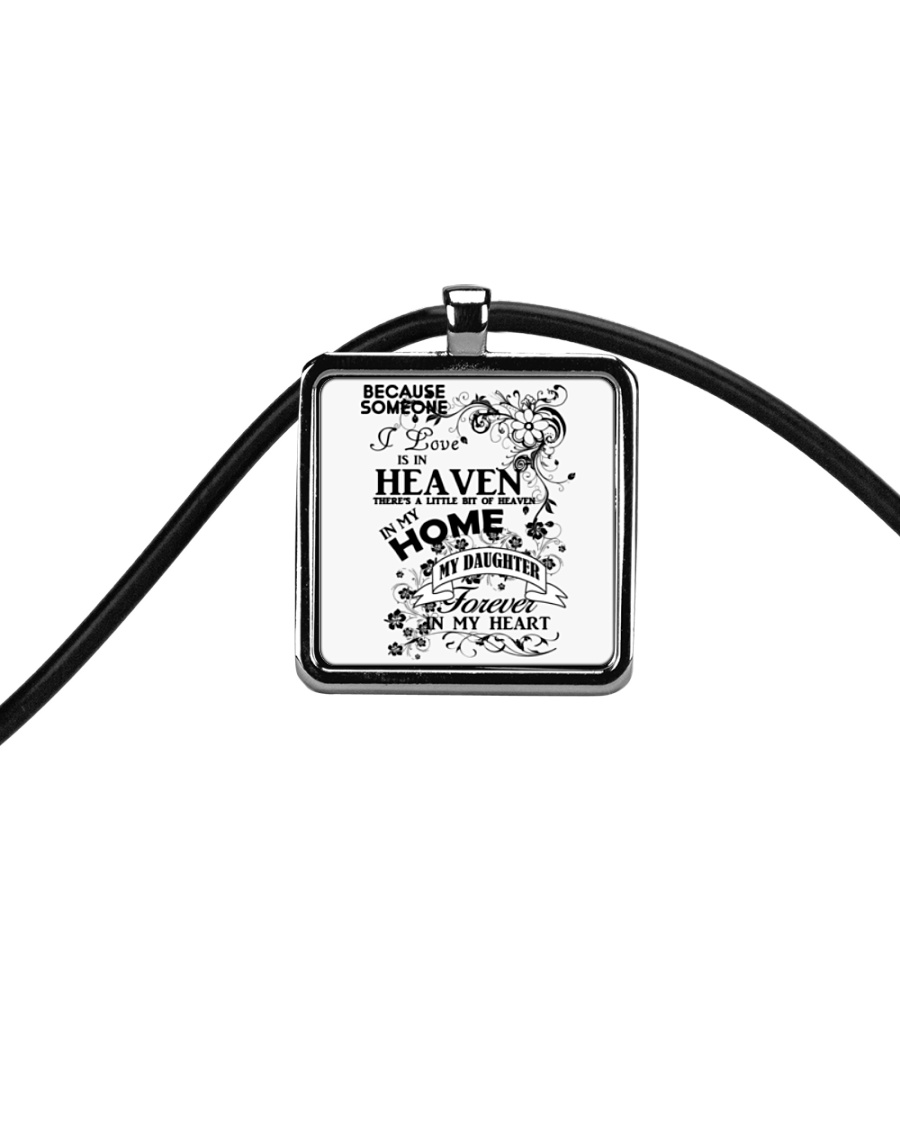 Daughter in Heaven  Cord Rectangle Necklace