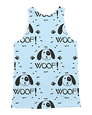 Woof 1 All-over Unisex Tank back