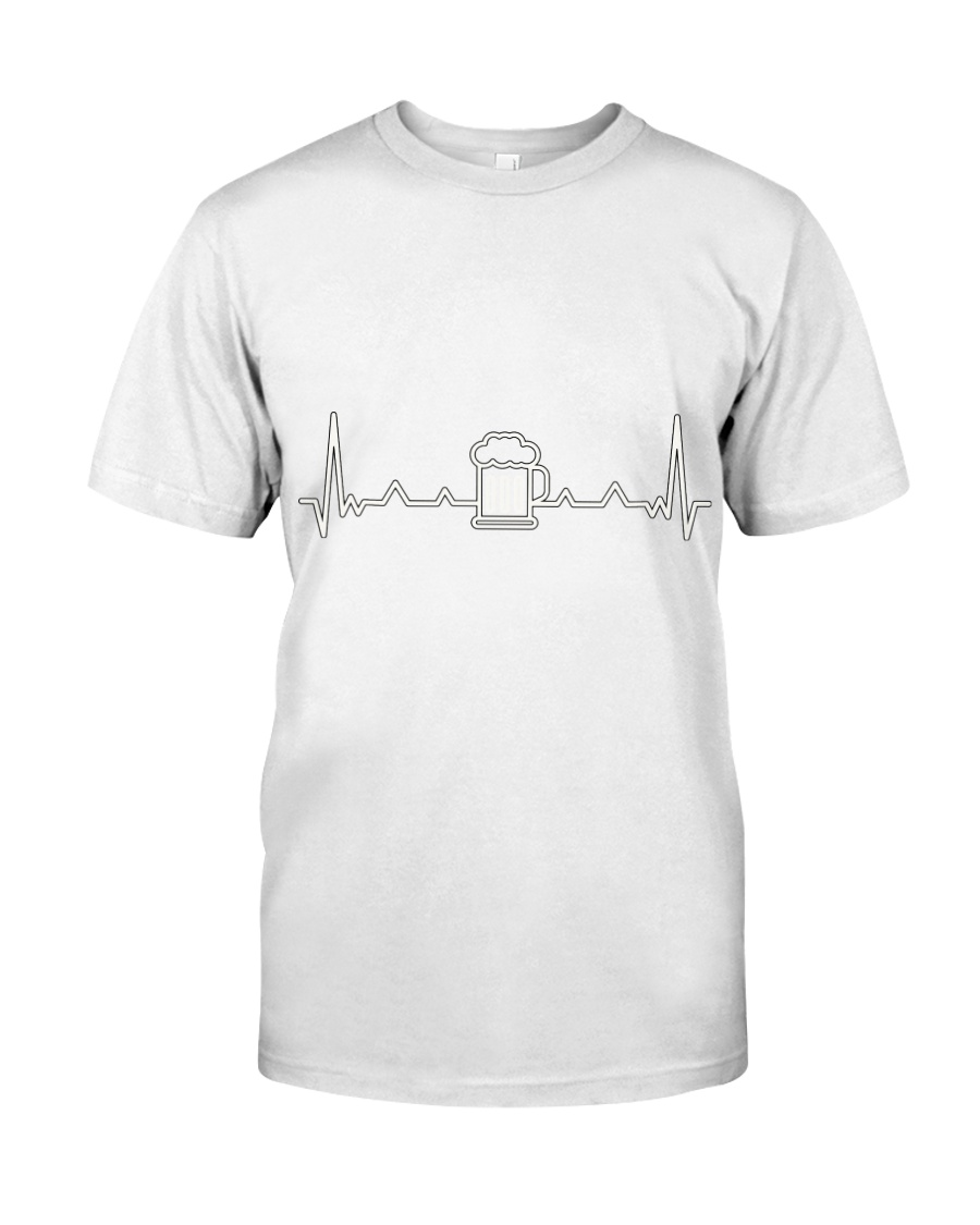 Beer Heartbeat Line  Classic T-Shirt