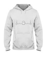 Beer Heartbeat Line  Hooded Sweatshirt thumbnail