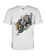 Gamblers Dice V-Neck T-Shirt tile
