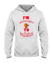 I 'm Allergic to Bullshit Hooded Sweatshirt tile