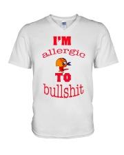 I 'm Allergic to Bullshit V-Neck T-Shirt thumbnail