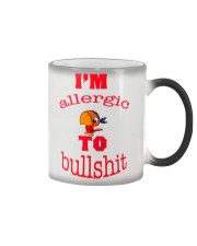 I 'm Allergic to Bullshit Color Changing Mug color-changing-right