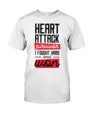Heart Attack Survivor Classic T-Shirt front