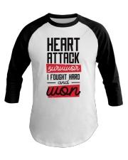 Heart Attack Survivor Baseball Tee thumbnail