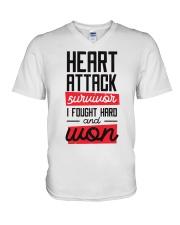 Heart Attack Survivor V-Neck T-Shirt thumbnail