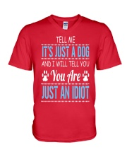 It's Just A Dog V-Neck T-Shirt front