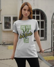 Keep Calm Smoke Weed Tee Classic T-Shirt apparel-classic-tshirt-lifestyle-19