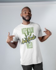 Keep Calm Smoke Weed Tee Classic T-Shirt apparel-classic-tshirt-lifestyle-front-32
