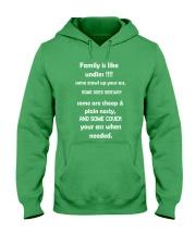 Family is like undies Hooded Sweatshirt front