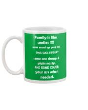 Family is like undies Mug back