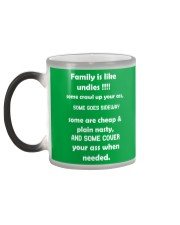 Family is like undies Color Changing Mug color-changing-left