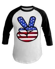 Peace America Baseball Tee thumbnail