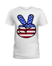 Peace America Ladies T-Shirt thumbnail