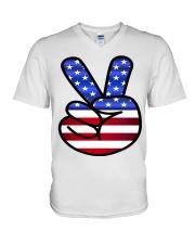 Peace America V-Neck T-Shirt thumbnail