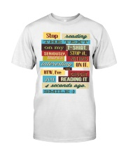 Text Tee 1 Classic T-Shirt front