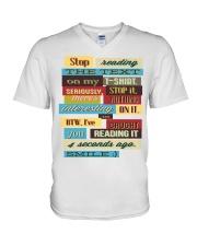 Text Tee 1 V-Neck T-Shirt thumbnail